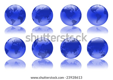 blue illustration globes.
