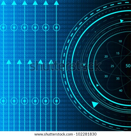 Blue Information Technology. Eps Version Also Available In Gallery. - stock photo