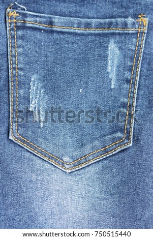 Blue Jean Back Pocket Design Texture Backdrop Wallpaper And Background