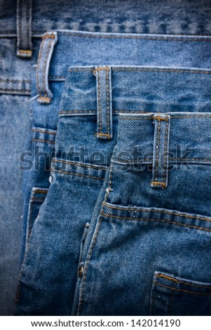 Blue jeans background. - stock photo