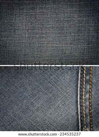 blue jeans, cotton fabric texture. coarse canvas background - closeup pattern