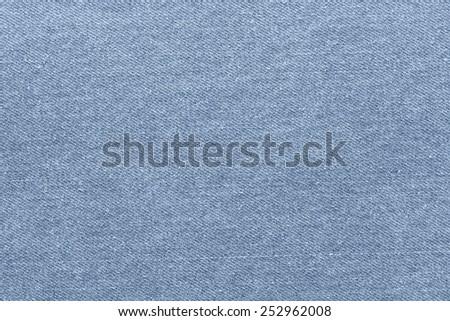 blue jeans fabric plain surface background, denim textile texture - stock photo