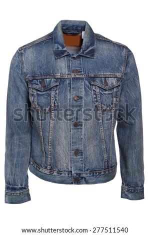 Blue jeans jacket - stock photo