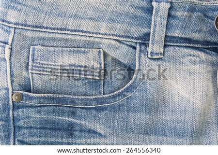 blue jeans texture or detail - stock photo