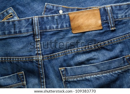 Blue jeans trousers - stock photo