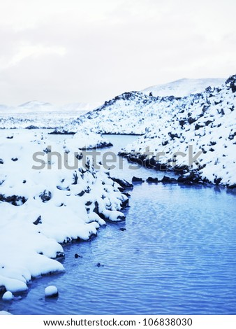 Blue lagoon, Iceland. - stock photo