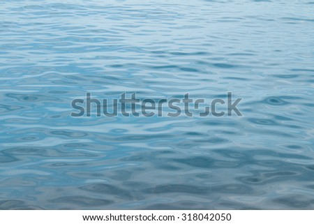 Blue lake surface for background pattern