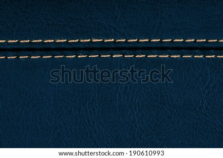 Blue leather, a background or texture
