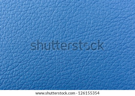Blue Leather Background Texture - stock photo
