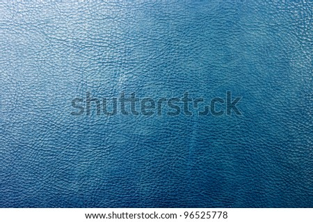 Blue leather for background usage