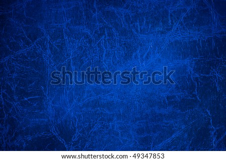 Blue leather surface (vignetted) - stock photo