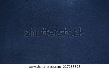 Blue leather texture background - stock photo