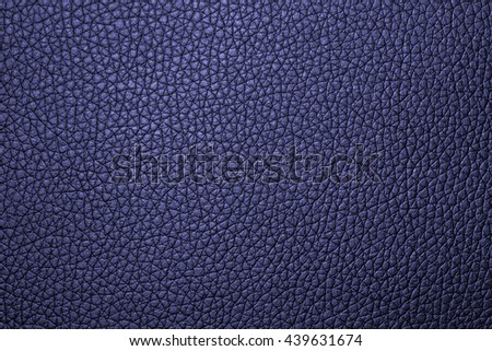 Blue leather texture background for design with copy space for text or image.