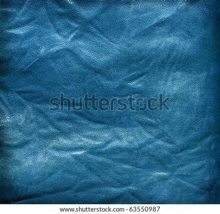 Blue leather texture: can be used as background