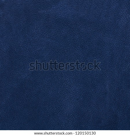Blue leather texture closeup, useful as background - stock photo