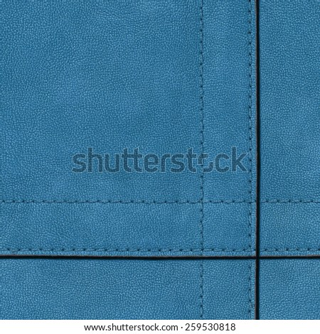 blue leather texture,seams, stitch