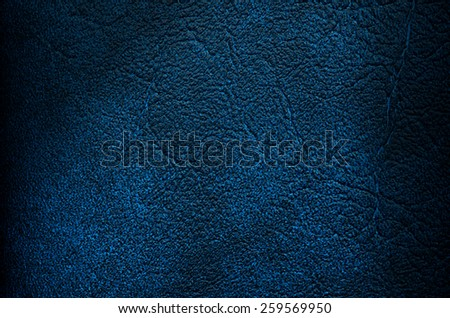 Blue leather texture with Shadow closeup background - stock photo