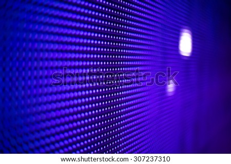 Blue LED smd screen greed close up background - stock photo