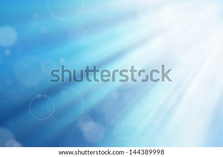 blue light with circles background - stock photo
