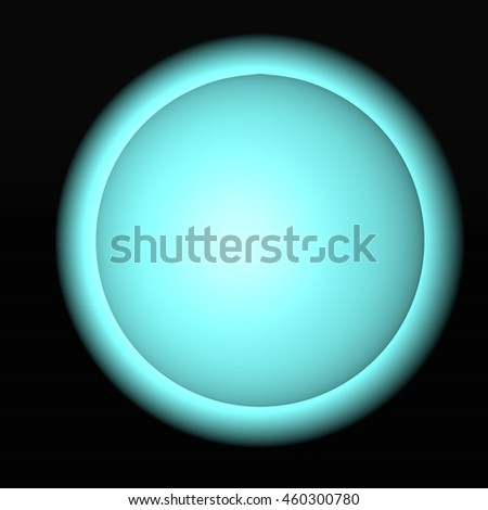 Blue lighting sphere over black background, 3d rendering - stock photo