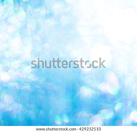 blue lights - abstract graphic design - text space - stock photo