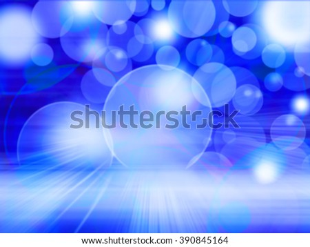 Blue Lights Festive background. Abstract holiday twinkled bright background with natural bokeh defocused white lights. Party abstract background. - stock photo