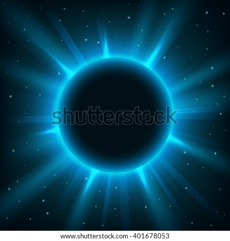 Blue lights rounded background