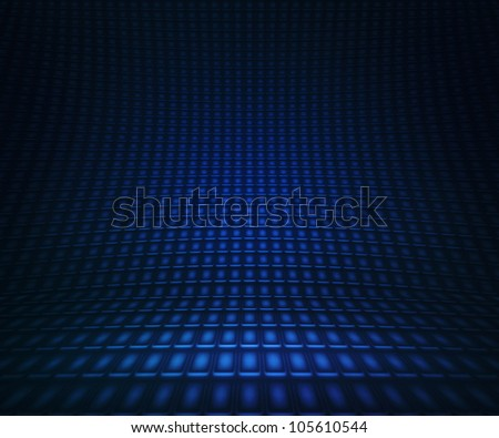 Blue Lights Stage - stock photo