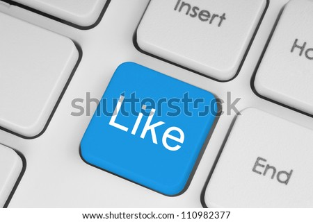 Blue like button on keyboard