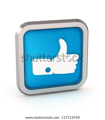 Blue like icon on a white background