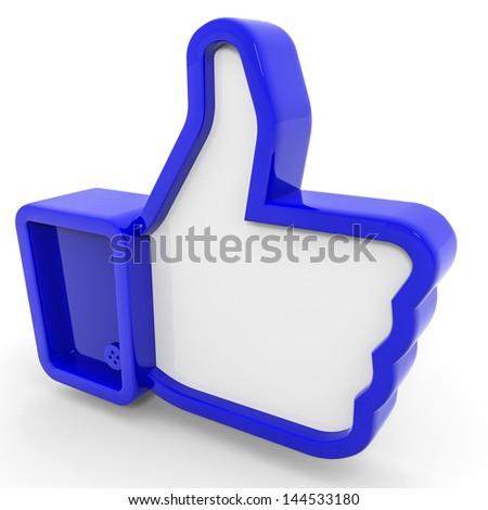 Blue like symbol. 3D illustration. - stock photo