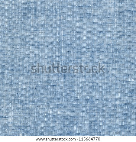 Blue linen canvas texture - stock photo