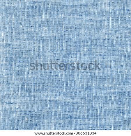 Blue linen canvas texture - stock photo