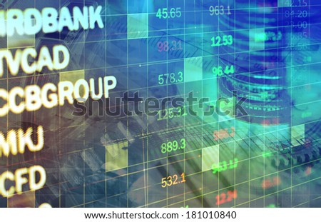 blue lines background - stock photo