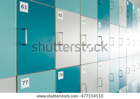 Blue locker room