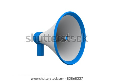Blue loudspeaker - stock photo