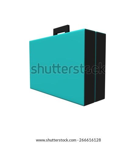 Blue Luggage - stock photo