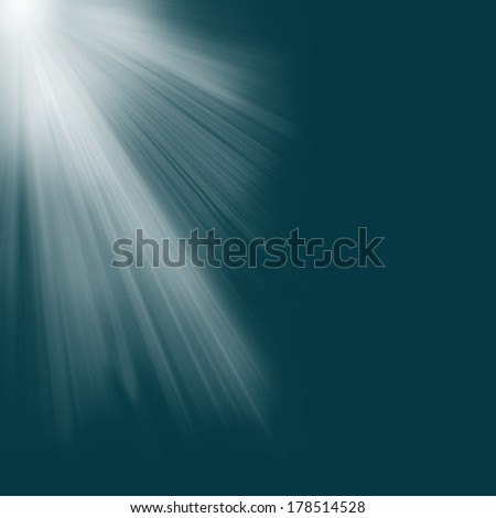 Blue luminous rays.  - stock photo