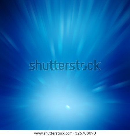 Blue luminous rays. - stock photo