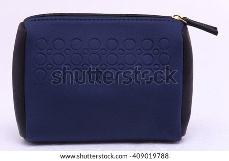 Blue Luxury Expensive Bag hand bag Wallet Purse in Studio Lighting White Background