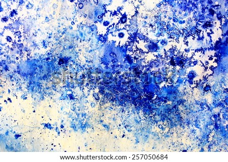 Blue Macro Watercolor 12 - stock photo