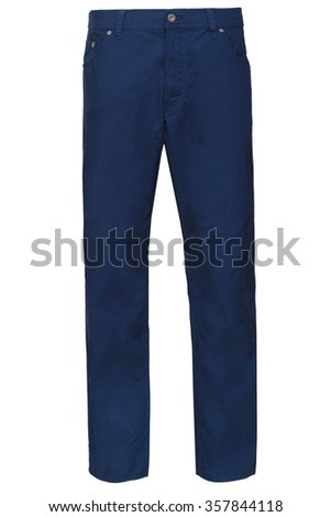 blue male pants - stock photo