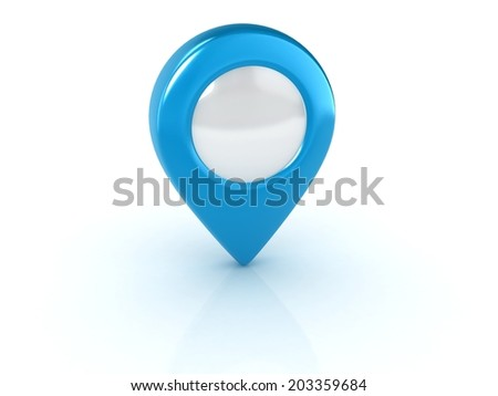 blue map pointer isolated illustration - stock photo