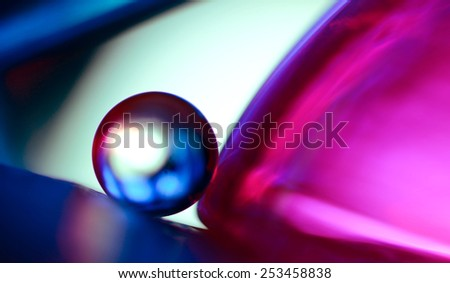 blue marble and pink - stock photo