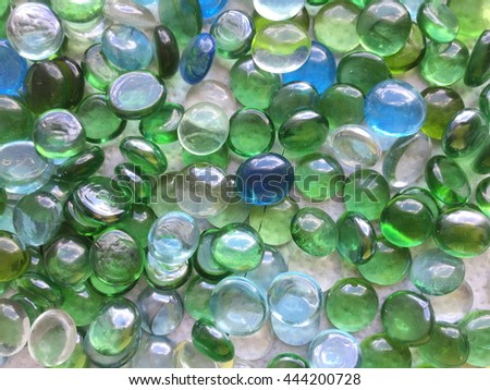 Blue marbles - stock photo