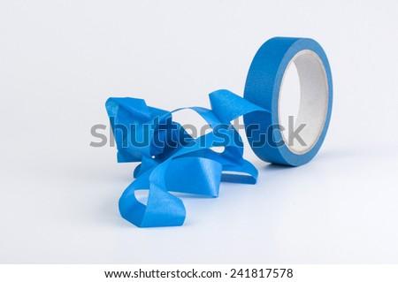 blue masking tape - stock photo