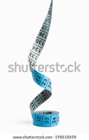 blue measuring tape - stock photo