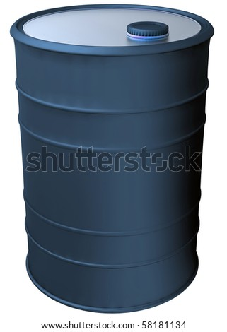 blue metal barrel isolated