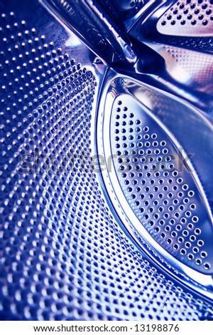 blue metal circles texture abstract - stock photo
