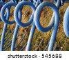 Blue Metal Loops - stock photo